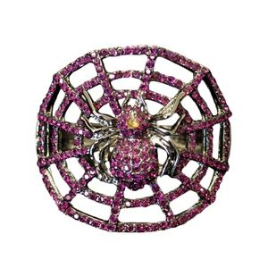 Purple Spider Cuff Rhinestone Bracelet